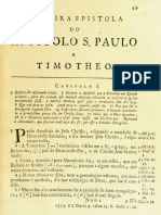 Novo Testamento Almeida 1693 - Primeira Epístola de Paulo a Timóteo