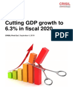 Crisil Economy First Cut Cutting Gdp Growth to 6point3percent in Fiscal 2020