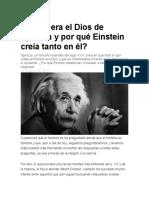 mensaje de Albert Einstein