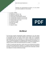 3er Laboratorio Electronica Filtro Lc