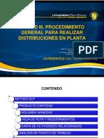 Unidad III. Procedimiento General Para Realizar Distribuciones en Planta