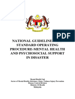 Guidelines and SOP MHPSS in Disaster