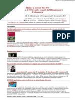 Objectifs du Millénaire pour le developpement..