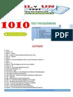 Listado de Test Psicologicos