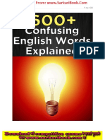 600 Confusing English Words Explained (Www.sarkaribook.com)