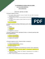 Cuestionario Oftalmología