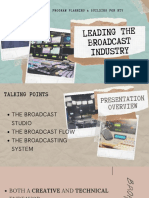 Leading the Broadcast Industry