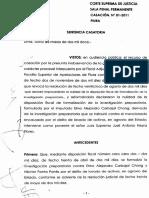 Casacion-01-2011-Piura-Legis.pe_auto de Formalizacion No Se Puede Cuestionar Por Tutela