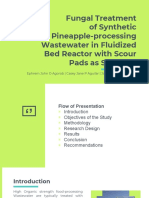 Fungal Treatment Synthetic Pineapple-processing Wastewater in Fluidized Bed Reactor With Scour Pads as Supports