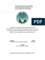 Diagnóstico Del Área de Invetigación Agrícola Del Departamento de Agronomía Con Énfasis en Plagas, Del Cultivo de Caña de Azucar (Saccharum Officinarum) en Las Fincas de Ingenio Tulula