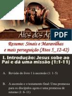 Atos Dos Apóstolos - Aula 11 - IPJ - Resumo - Sinais e Maravilhase Mais Perseguição (Atos 5-12-42)
