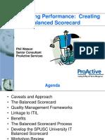 SPUSC - IT Balanced Scorecard