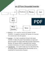 Block Diagram of Pure Sinusoidal Inverter (1)