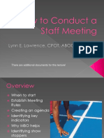 How to Conduct a Staff Meeting