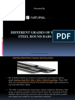 Different Grades of Stainless Steel Bars & Rods