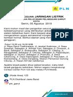 Template Info Gangguan Jaringan Listrik MLS2