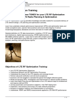 LTE RF Optimization Training