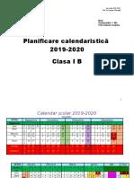Planificare clasa I