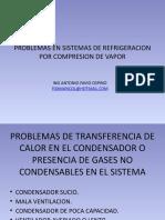 Problemas en Sistemas de Refrigeracion Por Compresion Vapor
