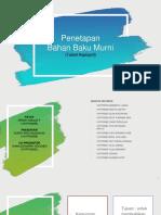 Penetapan Bahan Baku Murni (UJI BATAS).pptx