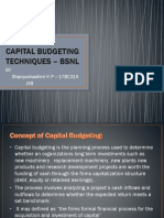 capital budjeting techniques