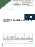 Procedimiento de Lavado y Pintura en estructuras
