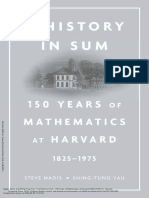 A History in Sum 150 Years of Mathematics at Harva...
