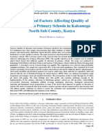 School Based Factors Affecting Quality of Education in Primary Schools-240
