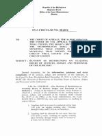 OCA Circular No. 08 2014