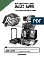 Dance Dance Revolution (Operators Manual) (Model GN845-UC)