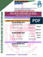 DEPORTE   El DXT de Coslada / 28 y 29 de septiembre de 2019
