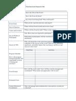 Event Brief Worksheet