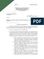Complaind Affidavit And