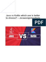 Java vs Kotlin Which One is Better to Choose