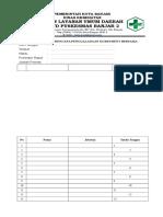 Daftar Hadir Rencana Penggalangan Komitmen