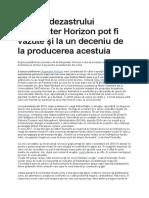 Urmele Dezastrului Deepwater Horizon Pot Fi Văzute Şi La Un Deceniu de La Producerea Acestuia