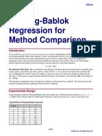 Passing-Bablok Regression for Method Comparison