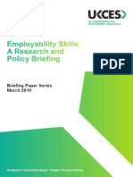 Employability Skills Policy Briefing Ukces