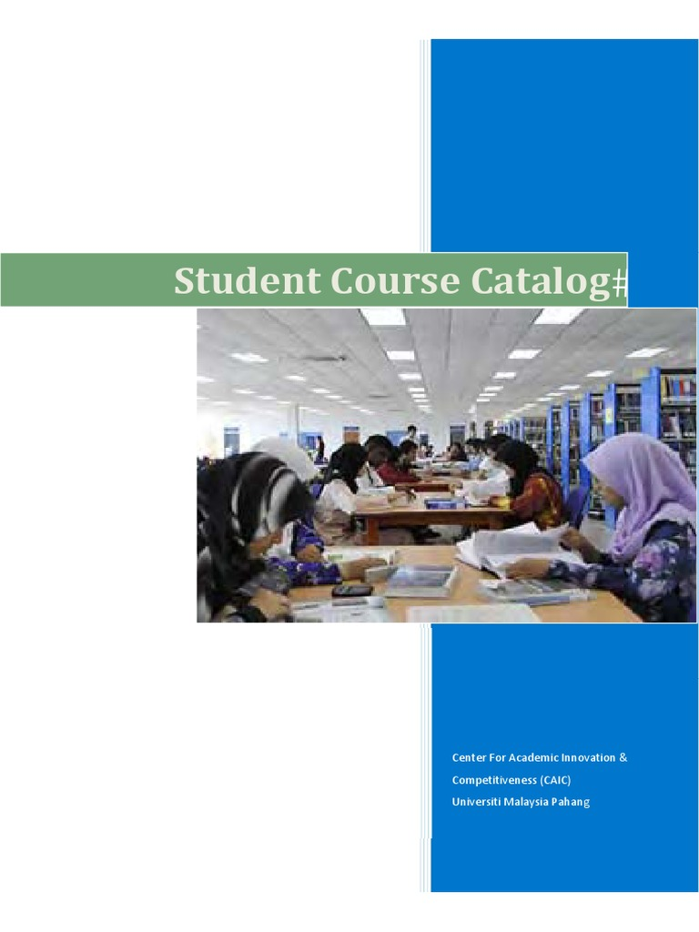 COURSE CATALOG Pdf Course Credit