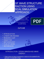 Analysis of wave structure interaction using numerical simulation approach