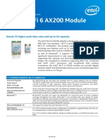 Wi Fi 6 Ax200 Module Brief