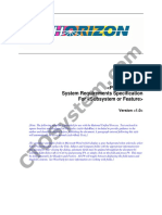 SDLC RUP System Requirements Specification