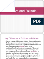 Folklore and folktale