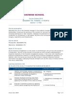 BUSADMIN 765 Finance (15 Points)