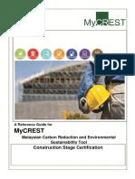 MyCrest Construction Stage Certification