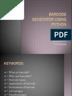 BARCODE Generator Python