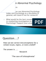Research in Abnormal Psychology
