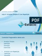 Estacio ANÁLISE COMBINATÓRIA (CEL0535) GRAD Aula_04(1)