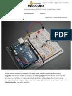 Arduino input output