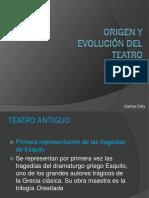 Origen y Evolución Del Teatro